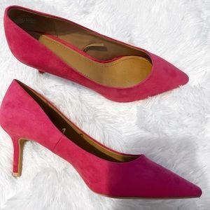 H&M Pink Faux Suede Kitten Heel